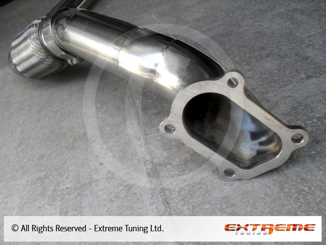 Toyota Land Cruiser Hdj80 Downpipe And 76mm Stainless