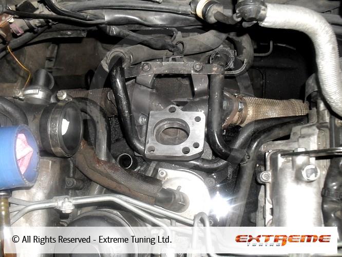 Audi A4 2.5 TDI - Garrett 2260 turbocharger installation   Sport exhausts   Exhaust manifolds ...