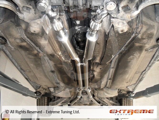 Audi S4 2.7 biturbo - K04 downpipe and 63mm twin exhaust ...