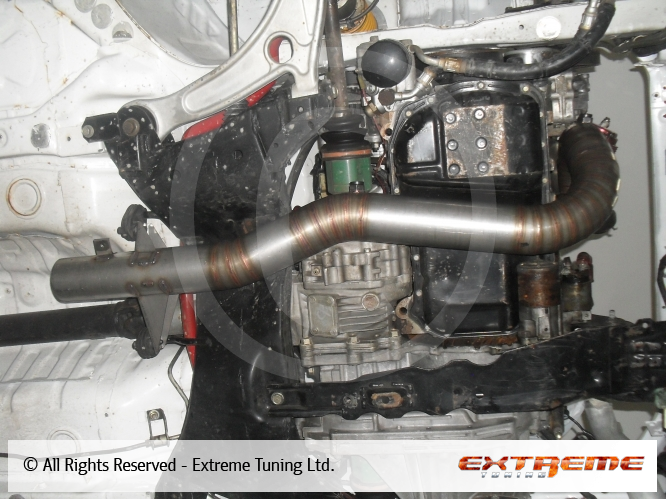 Mitsubishi Lancer EVO 9 - Downpipe 321 and titanium exhaust system   Sport exhausts   Exhaust ...