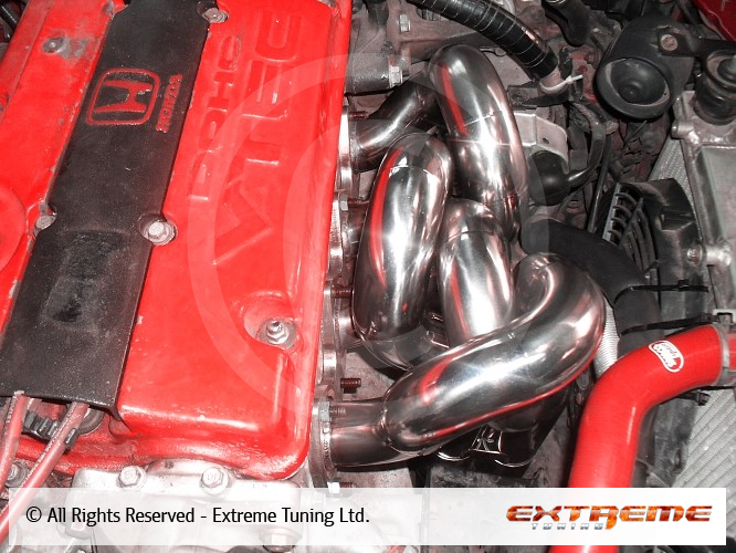 Honda Prelude H22A - Exhaust manifold with stepped pipes, 4
