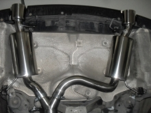 BMW 335D E91 3.0 twin turbo - 84mm exhaust manifold with 60mm twin mufflers