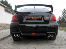 Subaru Impreza STI - Exhaust system 76mm with twin mufflers and 90mm exhaust tips