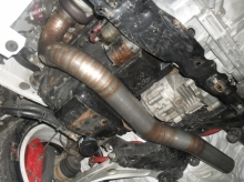 Mitsubishi Lancer EVO 9 - Downpipe 321 and titanium exhaust system