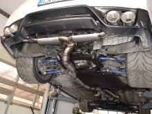 Titanium exhaust system for Nissan GTR 102mm with  four 127 mm titanium tips