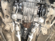 Audi S4 2.7 biturbo - K04 downpipe and 63mm twin exhaust with X-pipe