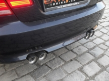 BMW Е93 Cabrio 335i - 63mm dual exhaust system with X-pipe and rear mufflers with four 90mm tips